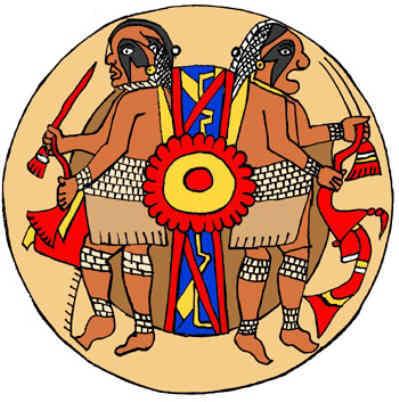 Warrior Brothers Symbol  Native American Warrior Symbols