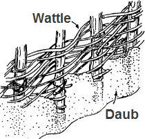 Wattle and Daub construction technique